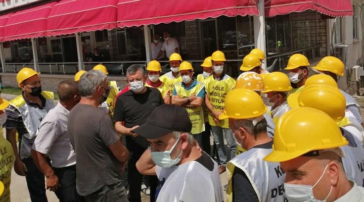 Haklarını arayan Somalı madenciler Ankara girişinde durduruldu