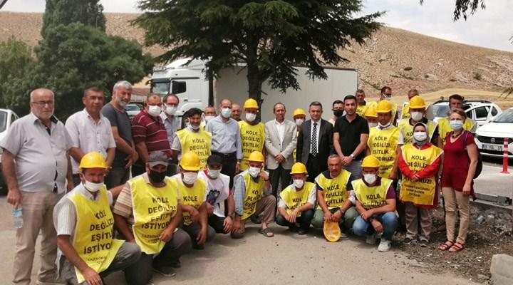Ankara girişinde durdurulan madencilerin bekleyişi sürüyor