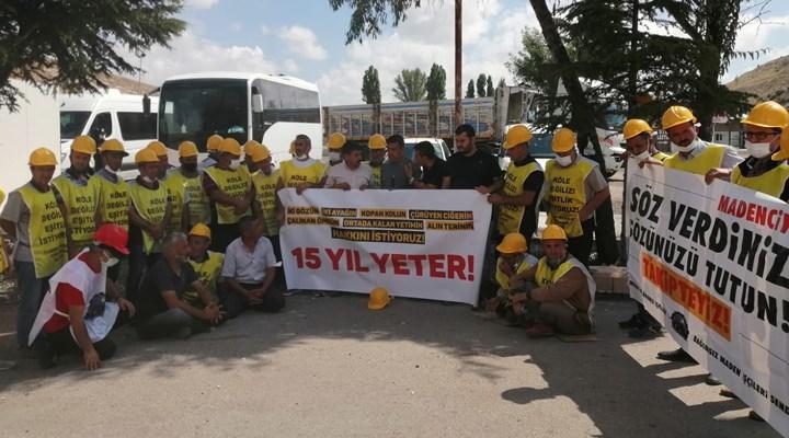 Ankara'ya girişleri engellenen madenciler betonda yatıyor: Sesimizi artık duysunlar