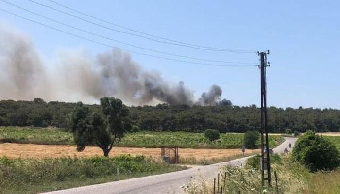 Bozcaada'da ormanlık alanda çıkan yangın kontrol altına alındı