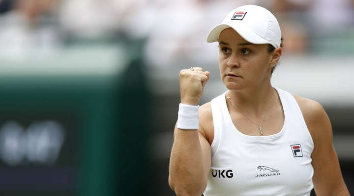 Wimbledon'ın kadınlardaki ilk finalisti Ashleigh Barty oldu