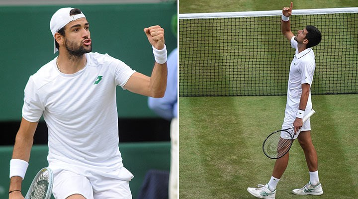 Wimbledon'da tek erkekler finalinin ismi belli oldu: Berrettini-Djokovic