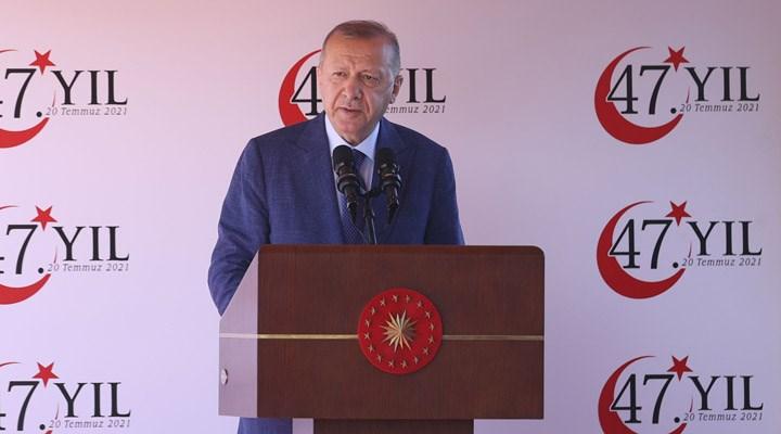 Erdoğan, Kuzey Kıbrıs'ta konuştu: Maraş açılarak yeniden eski güzel günlerine kavuşacaktır