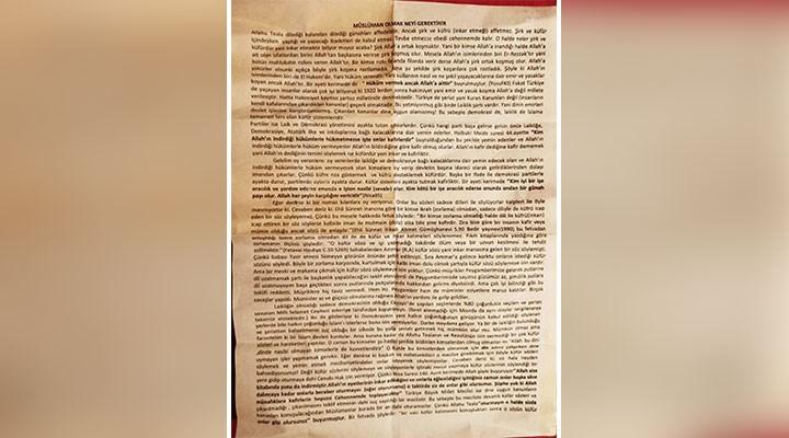 """""""İzmir'de şeriat çağrısı içeren bildiri dağıtıldı"""" iddiası"""