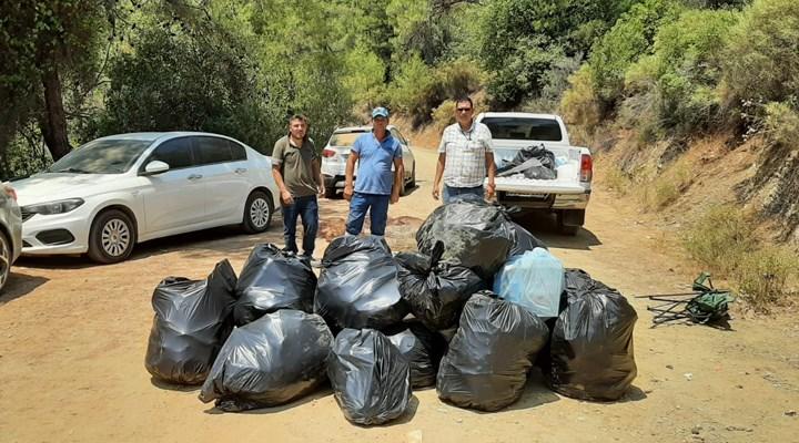 Tatilcilerden arda kalan çöp dağları oldu