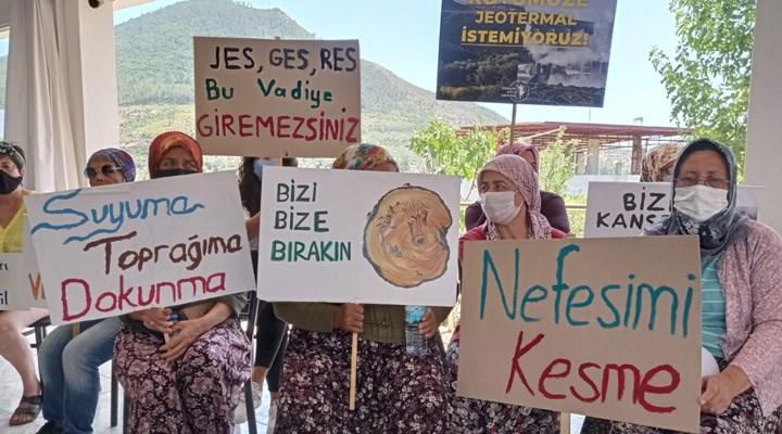 Seferihisar'da köylüler bir kez daha JES'e engel oldu