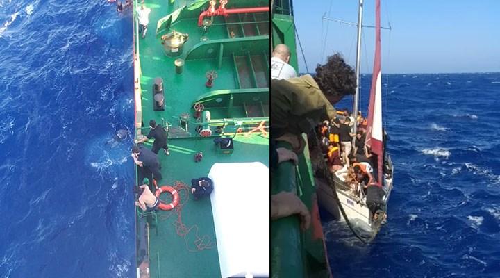 Teknedeki göçmenleri gemiye almayarak ölüme terk etmiş!