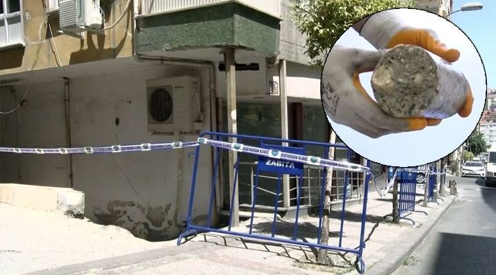 Güngören'de tahliye edilen binanın betonunda deniz kumu kullanılmış!