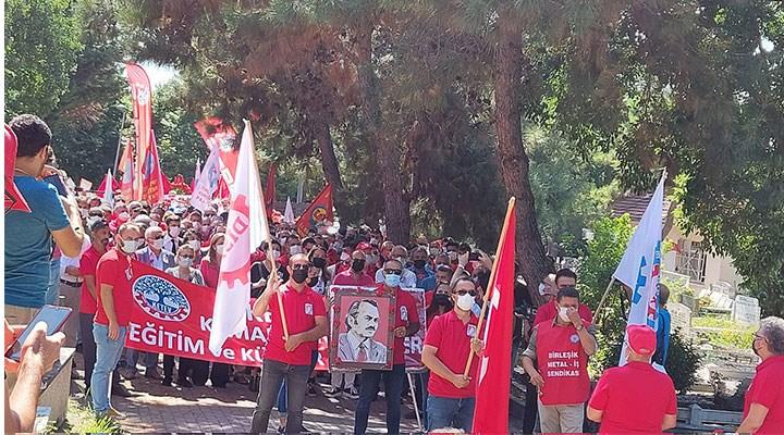İşçi sınıfının önderleri Kemal Türkler ve Kenan Budak mezarları başında anıldı
