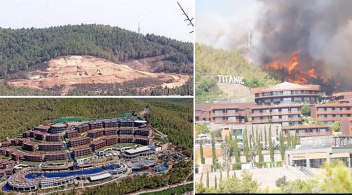 Bodrum'da 13 yıl önce çıkan yangında yanan ağaçların yerine dikilen otel, bugün çıkan yangın nedeniyle tahliye edildi!
