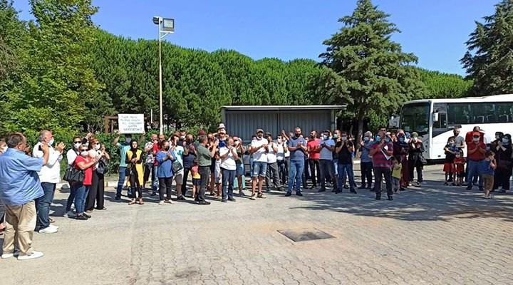 İşten çıkarılan Ümran Boru işçilerinden eylem: Aileleri destek verdi