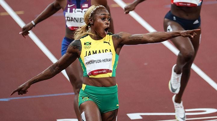 Kadınlar 100 metre finali: Elaine Thompson, 33 yıllık olimpiyat rekorunu kırdı