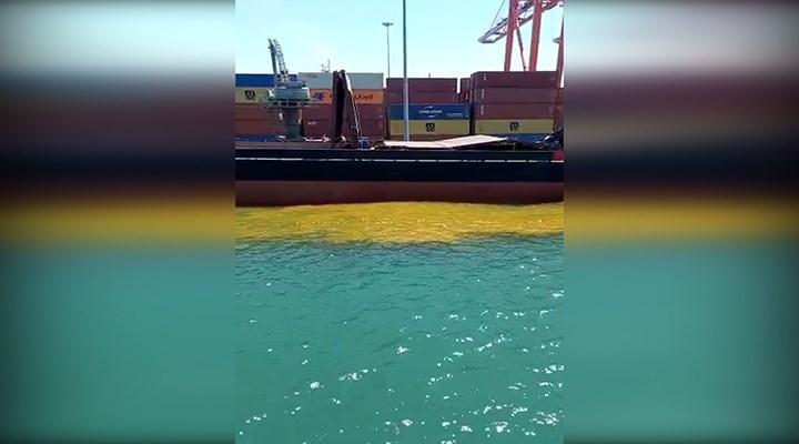 Denize kirli su bırakan gemiye 1 milyon 355 bin TL ceza kesildi