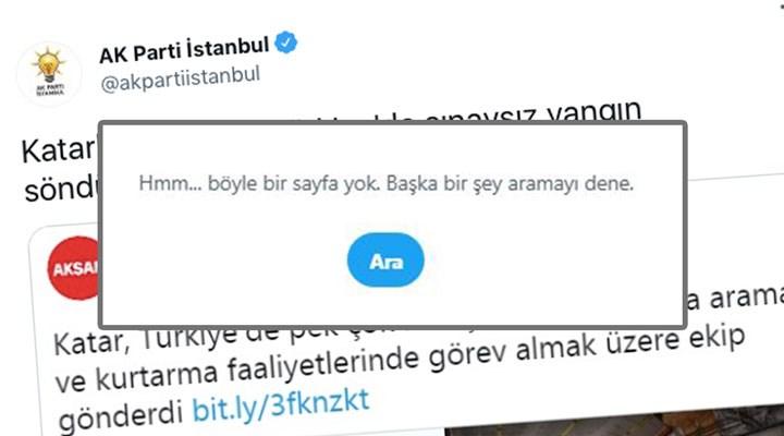 Ülke yanarken AKP 'espri' peşinde: Önce paylaştılar, sonra sildiler