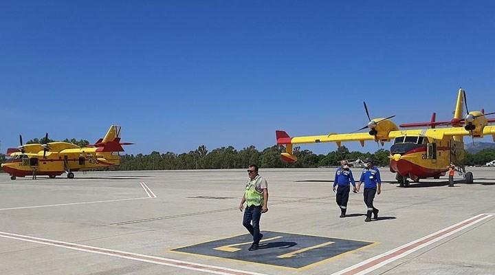 İspanya'dan gönderilen yangın söndürme uçakları Dalaman'a ulaştı