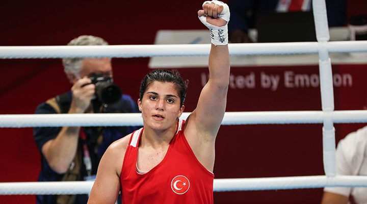 2020 Tokyo Olimpiyat Oyunları'nda boksta 69 kiloda Busenaz Sürmeneli finale yükseldi