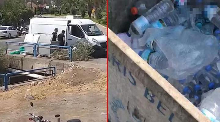 Yangın söndürme ekibinin sularını çöpe atan 3 kişi gözaltına alındı