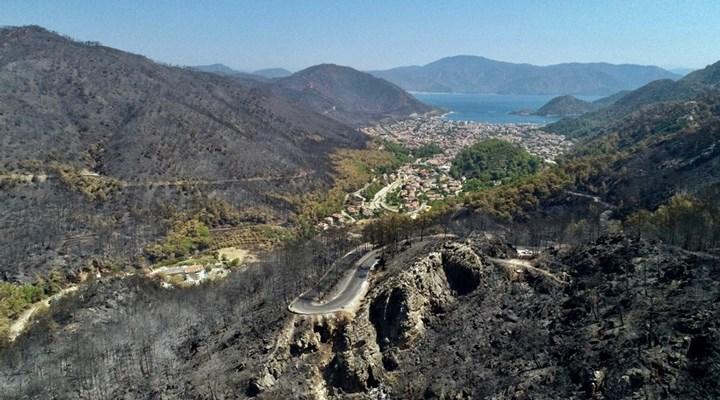 FOTO HABER   Marmaris'te yangının etkisi havadan görüntülendi