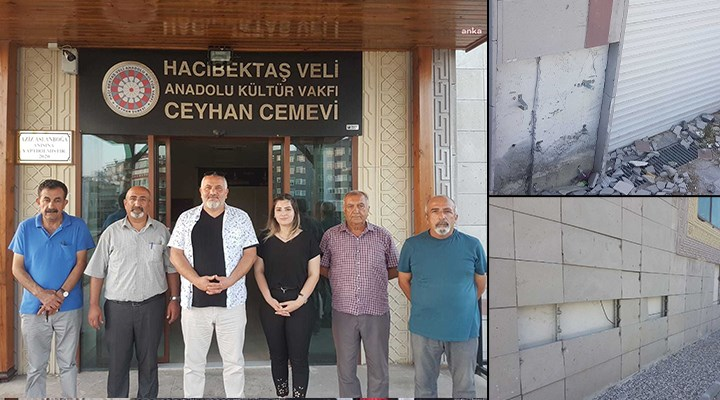 Ceyhan'da cemevinin dış cephesi tahrip edildi: Şikayetlerimizden sonuç alamadık
