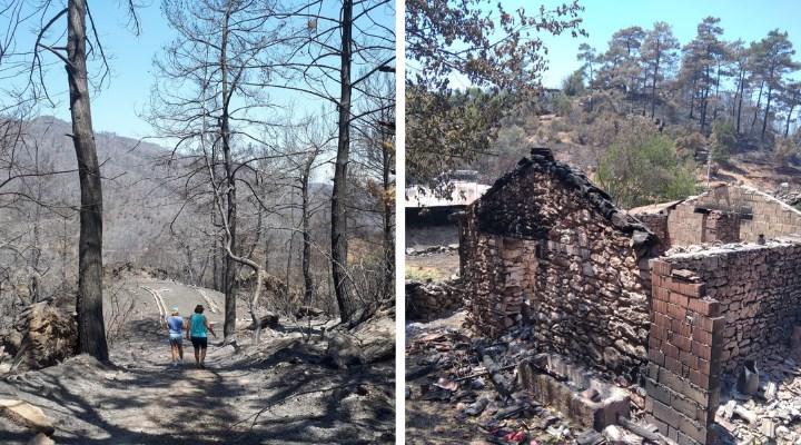 Yangın bölgelerinde neler gördük? Bu bizim mücadelemiz