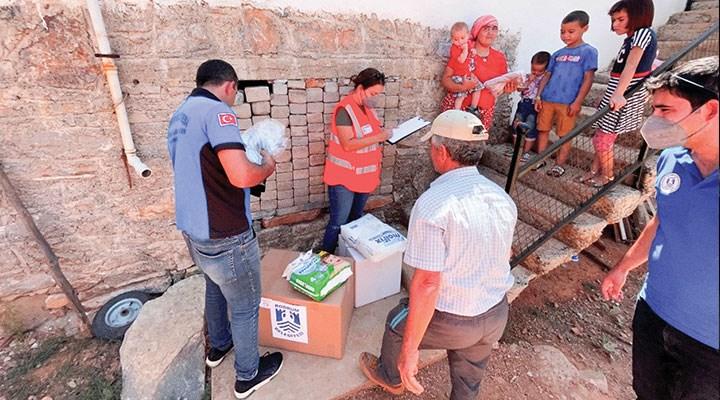 Muğla'da yangın mağdurlarına destek
