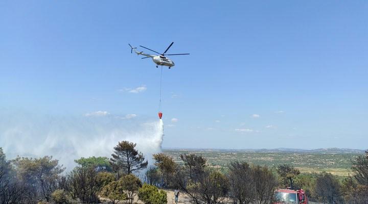Çanakkale'de orman yangını: Tavaklı yine yanıyor
