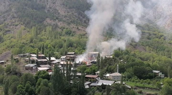 Oltu'da bir evde çıkan yangın 5 eve daha sıçradı