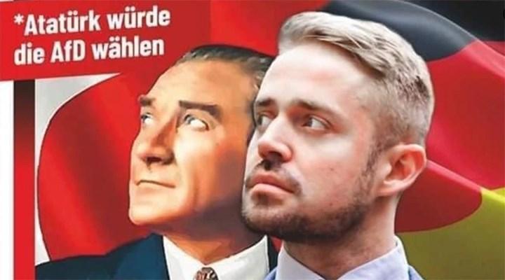 Almanya'da ırkçı AfD'nin Atatürk posteri tepkiyle karşılandı