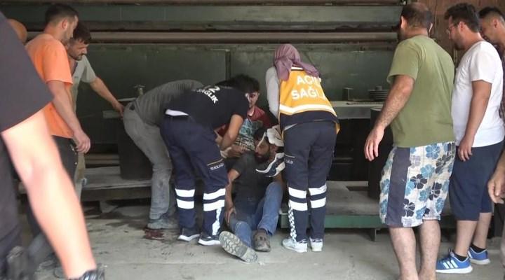 Ayancık'ta tamirat yaptığı fabrikanın çatısından düşen işçi yaralandı