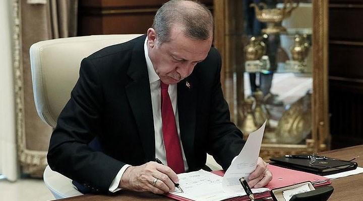 Erdoğan'dan çeşitli bakanlık ve kurumlara atama