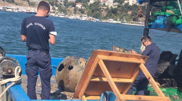 İstanbul Boğazı'nda balıkçı ağına mayın takıldı