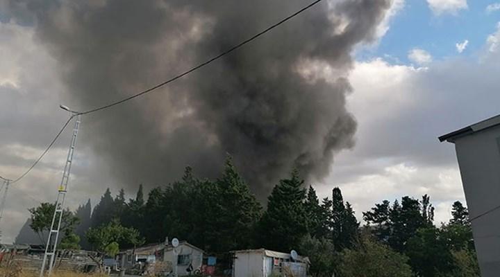 Silivri'de fabrikada yangını