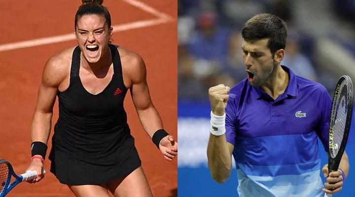 ABD Açık'ta Sakkari ve Djokovic yarı finalde