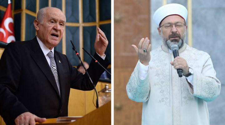 Bahçeli, Ali Erbaş'a destek verdi; laiklik eleştirilerini hedef aldı