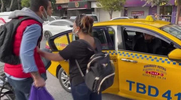 Mesafeyi beğenmeyen taksici yolcuyu kabul etmedi: İstediğin yere şikayet et