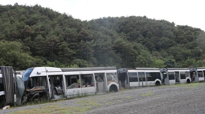 AKP'nin 63 milyon avroluk zararı: Kullanılamayan metrobüsler çürüdü