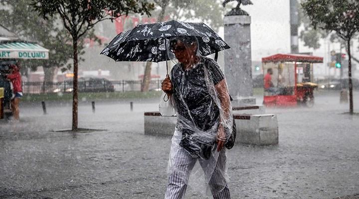 Meteoroloji saat verdi: Türkiye'nin büyük bölümünde sağanak etkili olacak