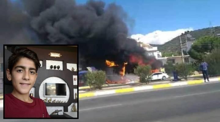 İşyerindeki yangında yaralanan çocuk hayatını kaybetti
