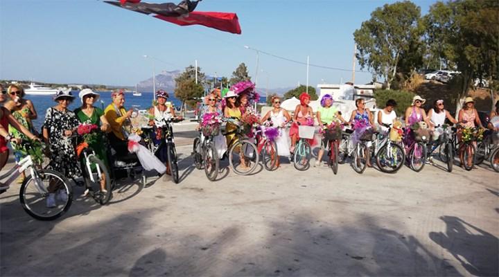9. Süslü Kadınlar Bisiklet Turu Datça'da yapıldı