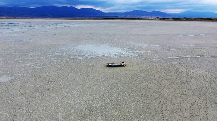 Karataş Gölü de kurudu