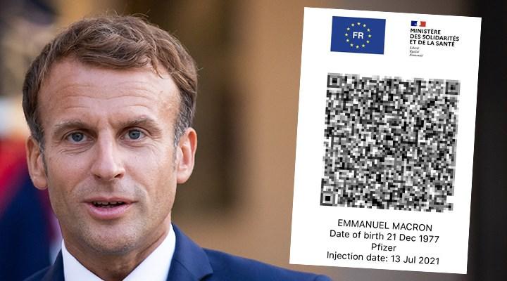 Macron'un Covid-19 sağlık kartı sosyal medyaya sızdırıldı