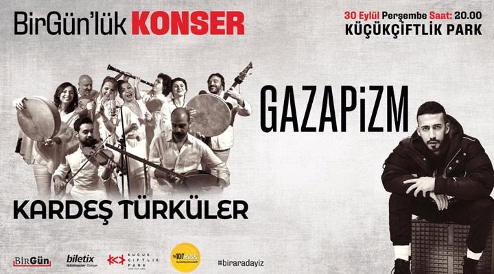 BirGün'lük Konser, 30 Eylül'de KüçükÇiftlik Park'ta
