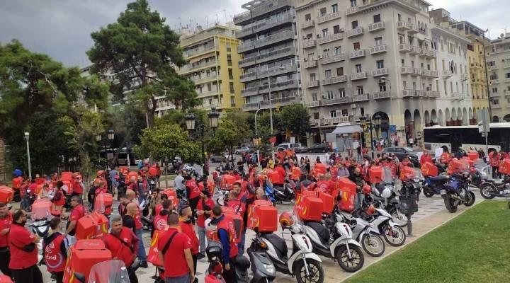 Yunanistan'da motokuryeler kazandı: E-Food'dan geri adım