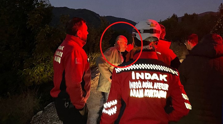 Kayıp başvurusu yapılan alkollü adam, kurtarma ekibiyle birlikte kendini aradı