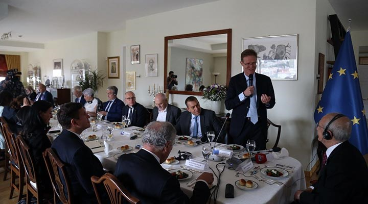 Kılıçdaroğlu AB ülkelerinin büyükelçileri ile buluştu