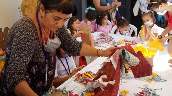 Seferihisar'daki kültür- sanat çocuk festivaline büyük ilgi