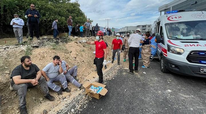 Bursa'da kimya fabrikasında patlama: 1 işçi hayatını kaybetti, 6 işçi yaralandı