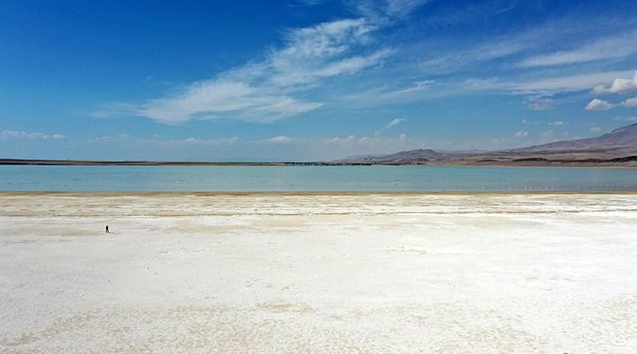 Kuş cenneti Arin Gölü'nde kuraklık alarmı