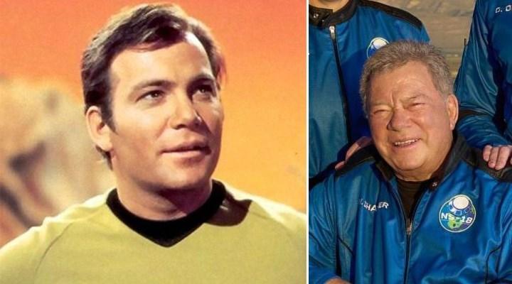 Star Trek'in Kaptan Kirk'ü uzaya çıkan en yaşlı kişi oldu