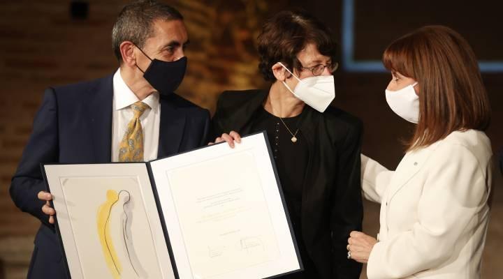 Yunanistan'da BioNTech'in kurucuları Türeci ve Şahin'e ödül